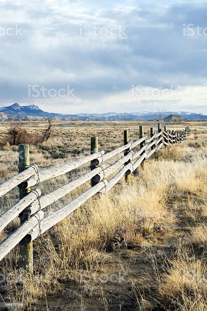 rural fence royalty-free stock photo