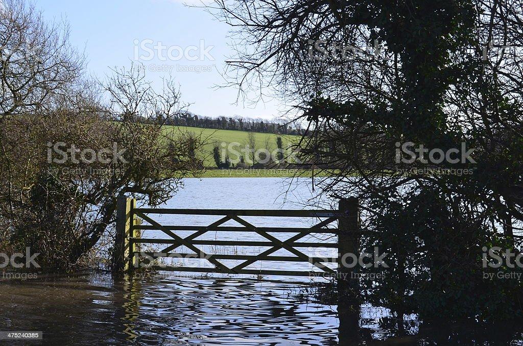Rural flooding. stock photo