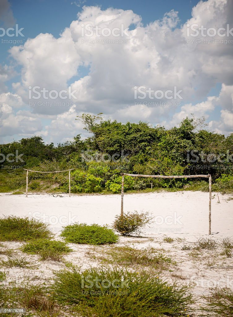 Rural football pitch, Barreirinhas, Brazil stock photo