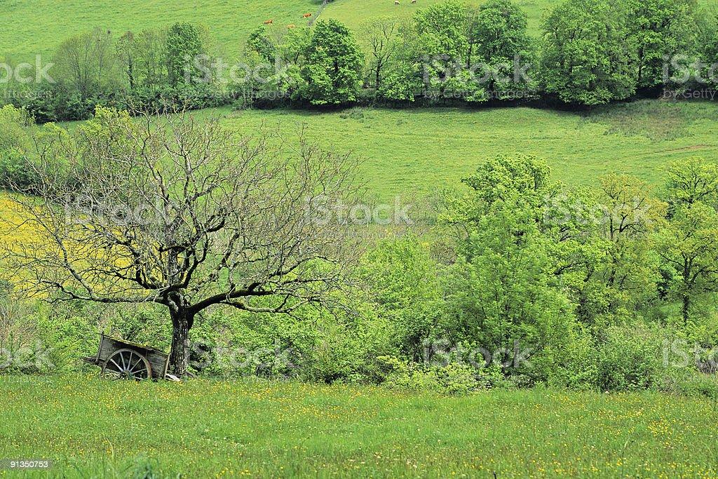 Rural France stock photo