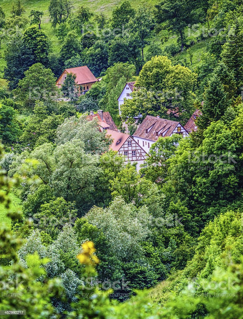 Rural Franconia stock photo
