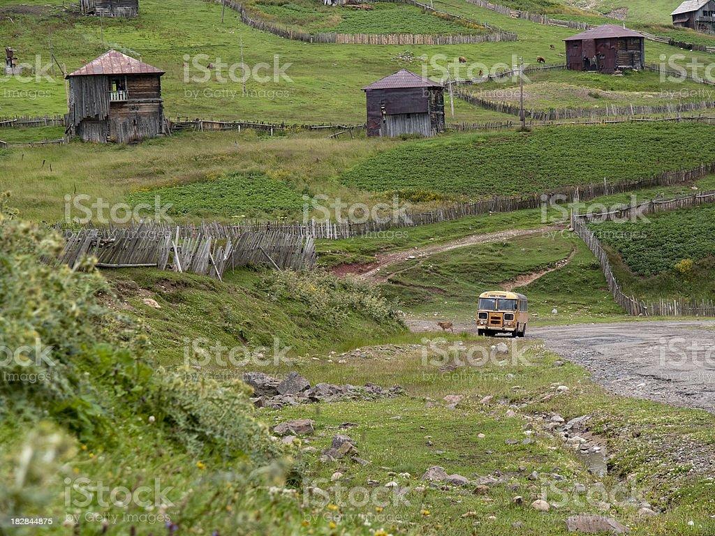 Rural Georgian villages royalty-free stock photo