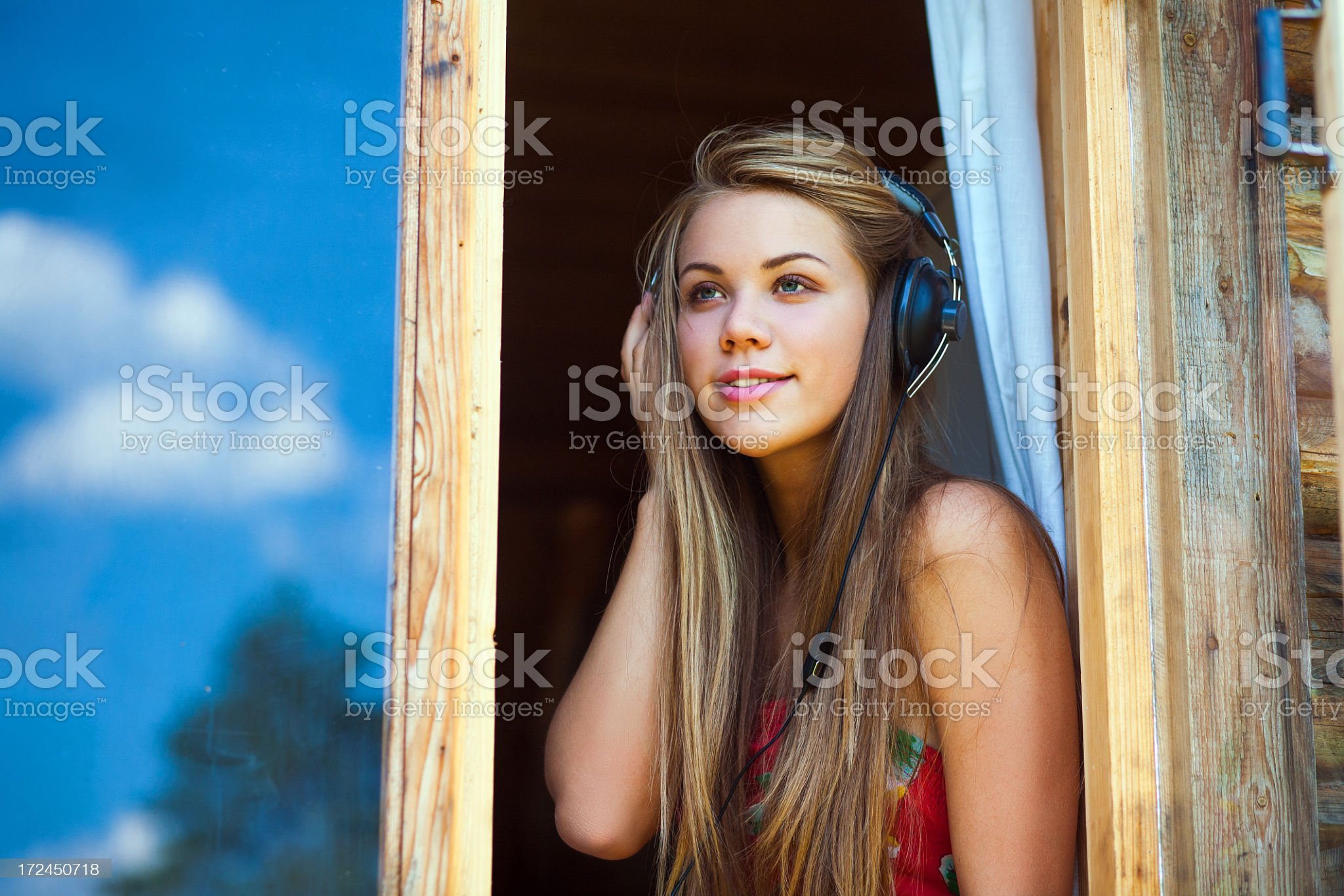 rural girl royalty-free stock photo