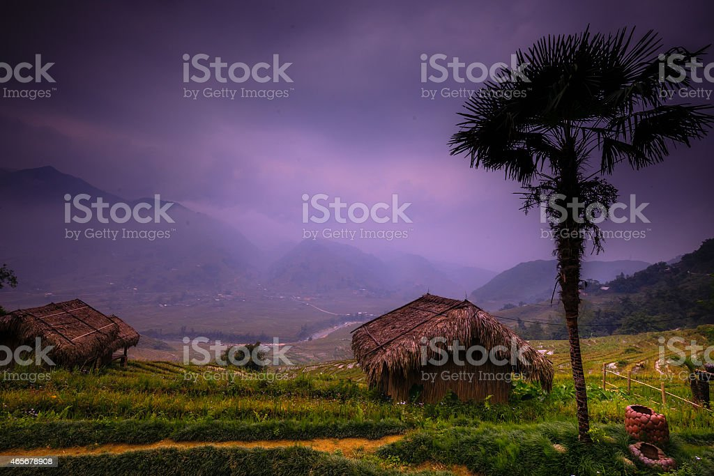 Rural highland Sapa - Vietnam stock photo
