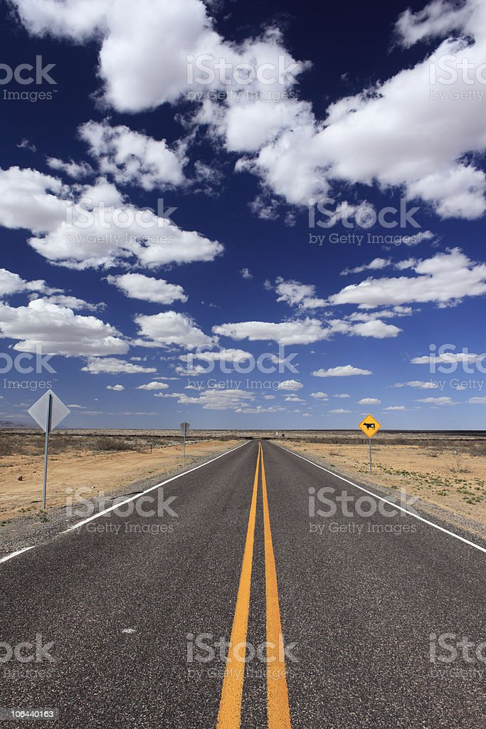 Rural Highway royalty-free stock photo