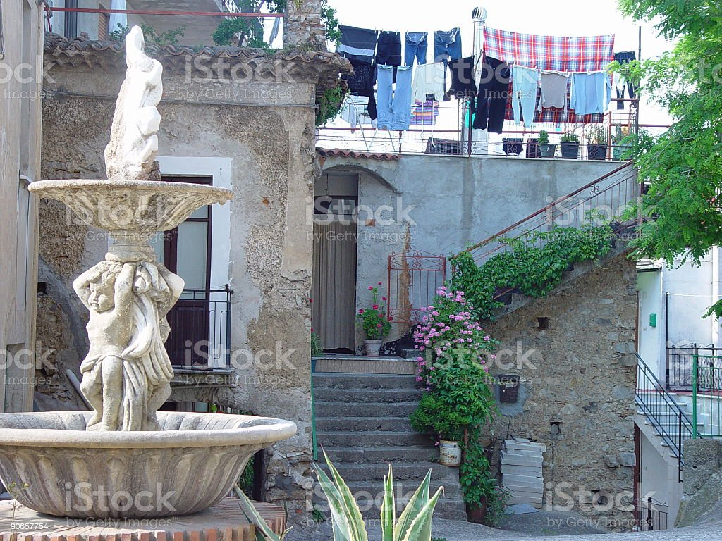 Rural Home in Camerota, Italy royalty-free stock photo