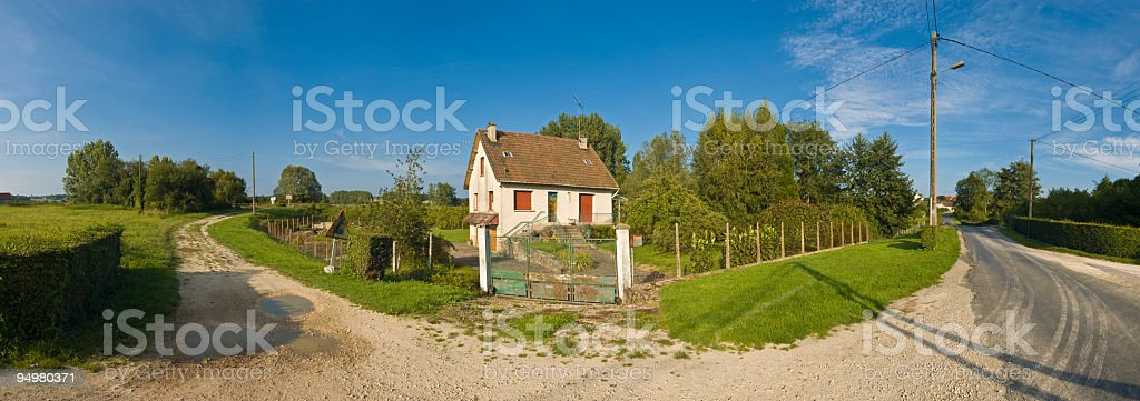 Rural home panorama royalty-free stock photo