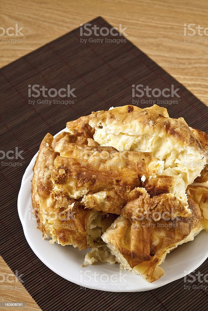 Rural homemade pie royalty-free stock photo