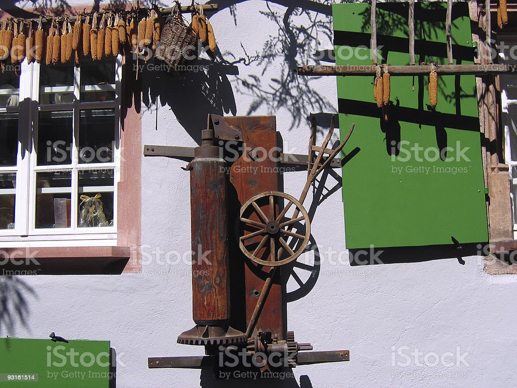 rural house alsace france royalty-free stock photo