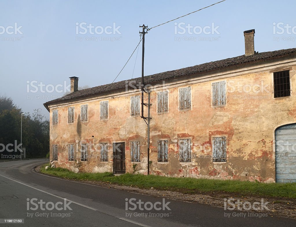 Rural house stock photo