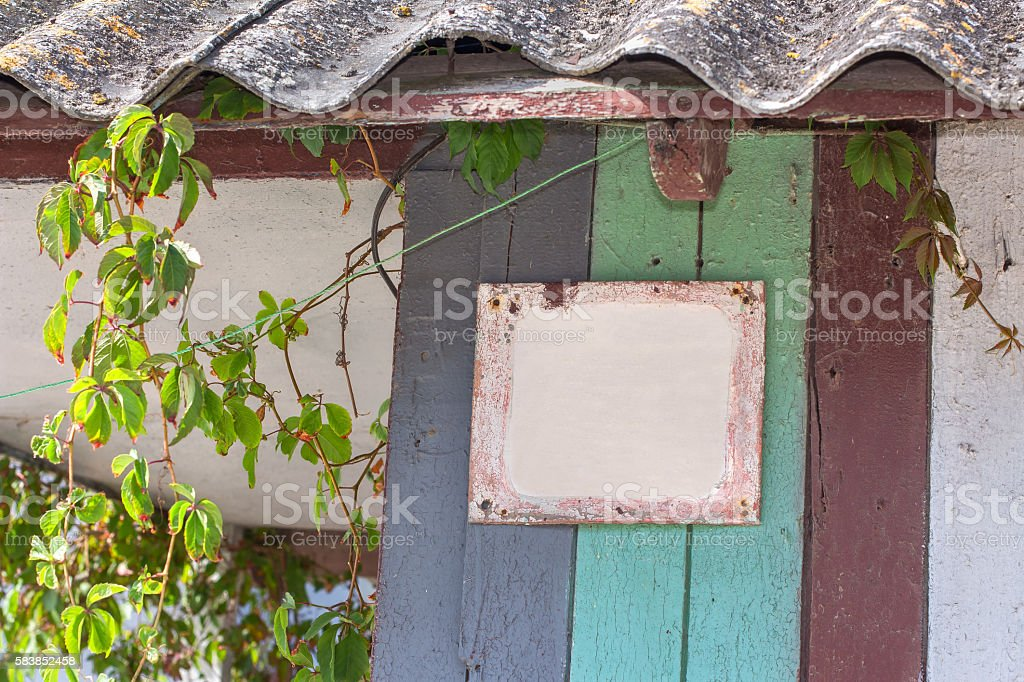 rural house with table for adress number stock photo