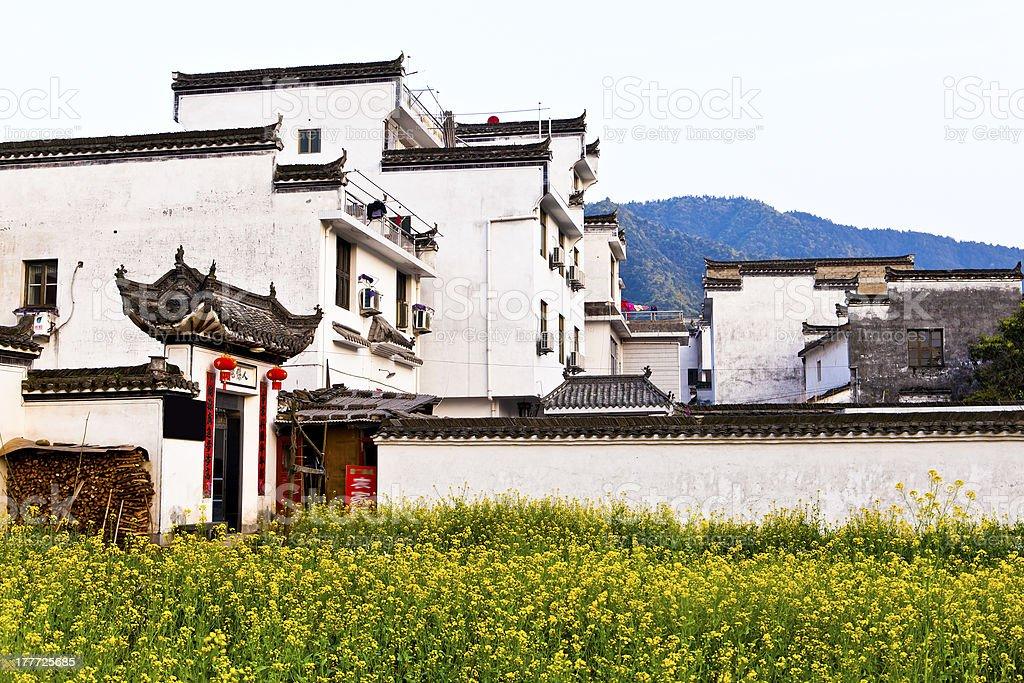 Rural houses in Wuyuan, Jiangxi Province, China. royalty-free stock photo