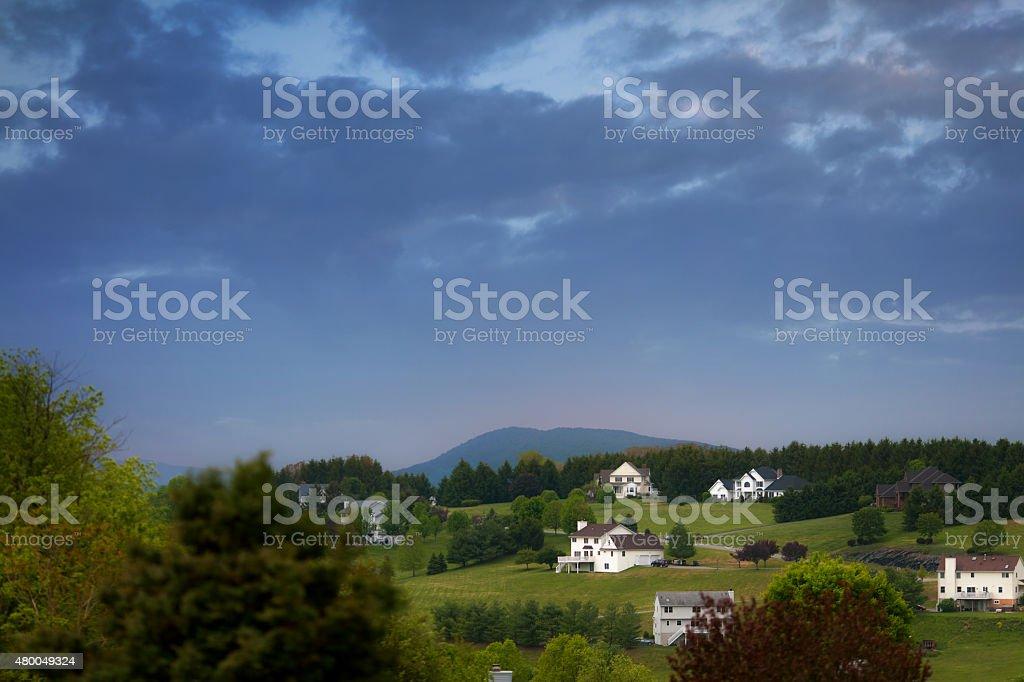 Rural houses stock photo
