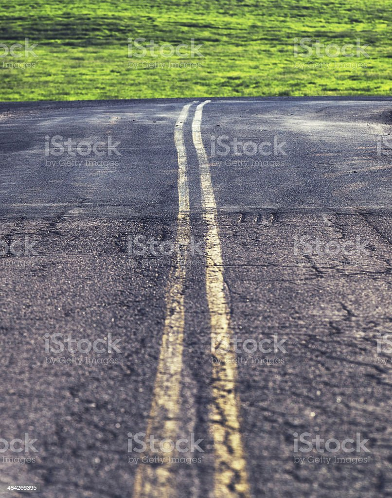 Rural Intersection royalty-free stock photo