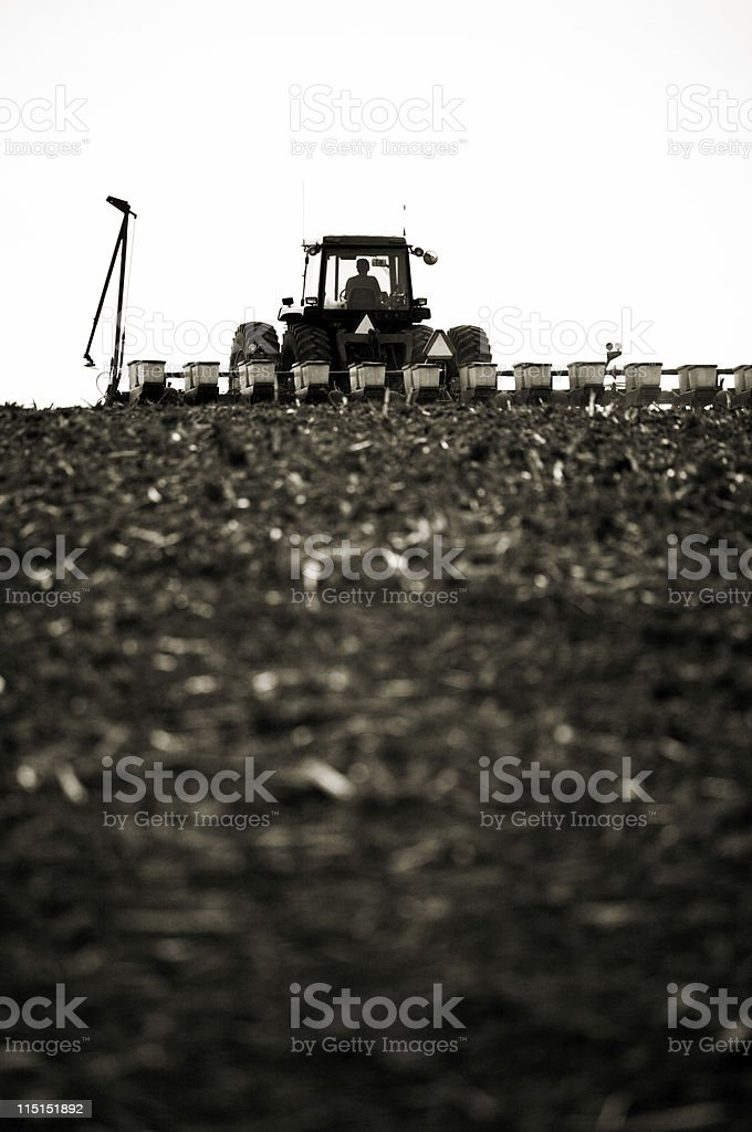 rural Iowa farmland cultivation royalty-free stock photo