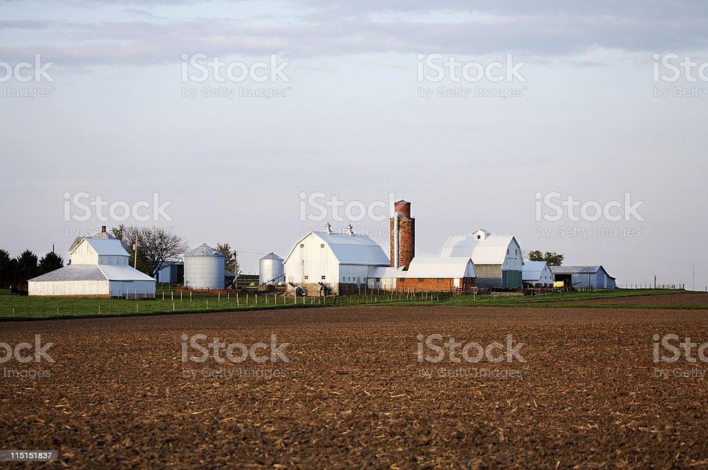 rural Iowa farmland farm royalty-free stock photo
