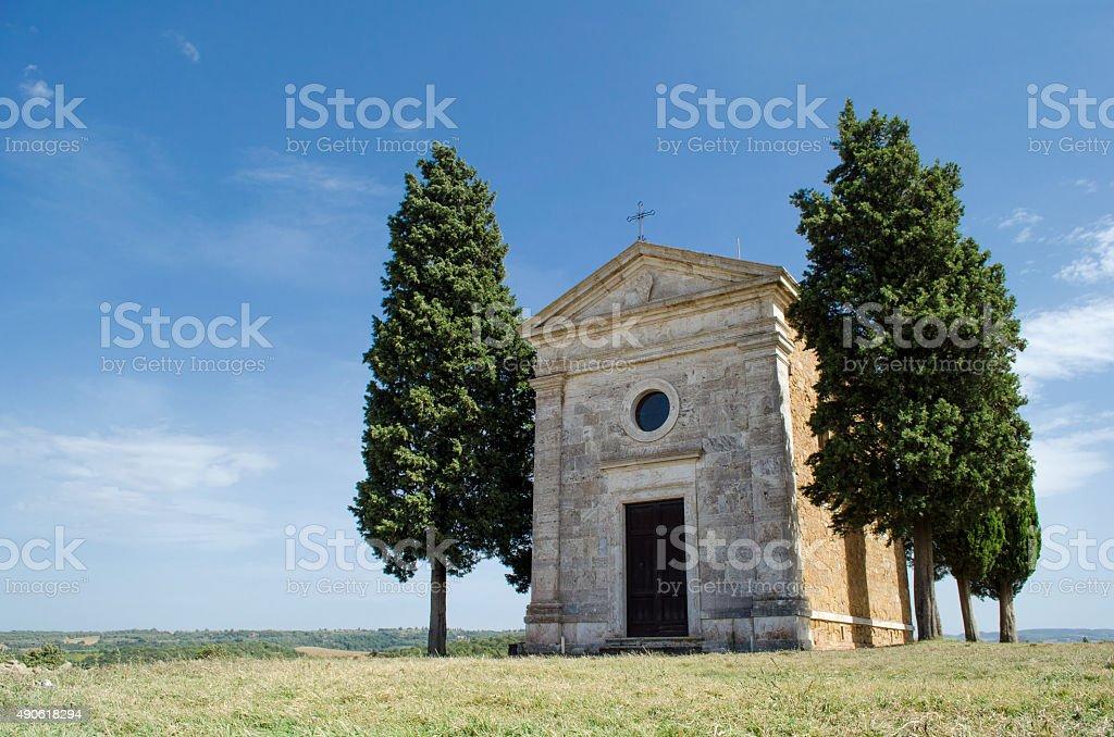 Rural Italy Tuscany Church stock photo