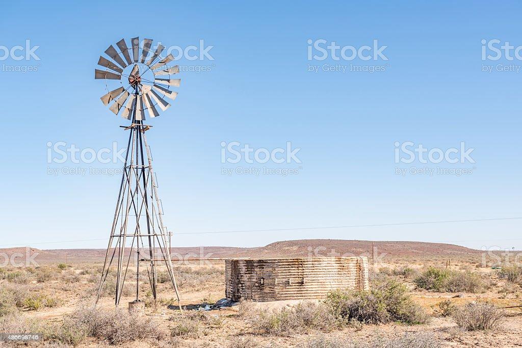 Rural Karoo scene stock photo