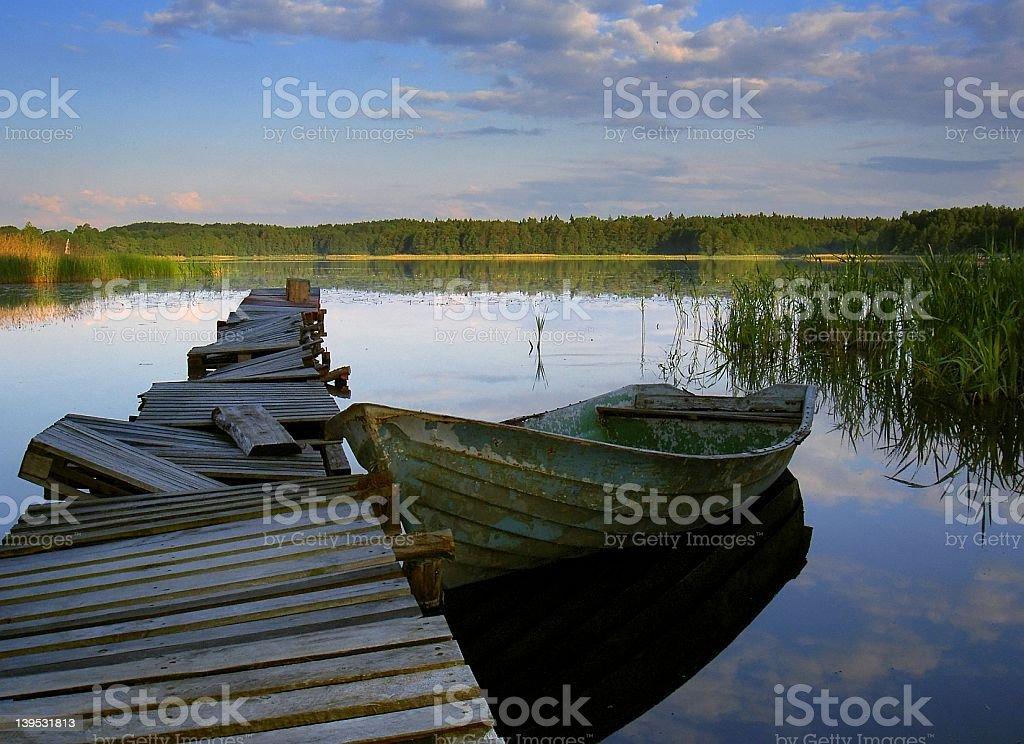 rural lake stock photo