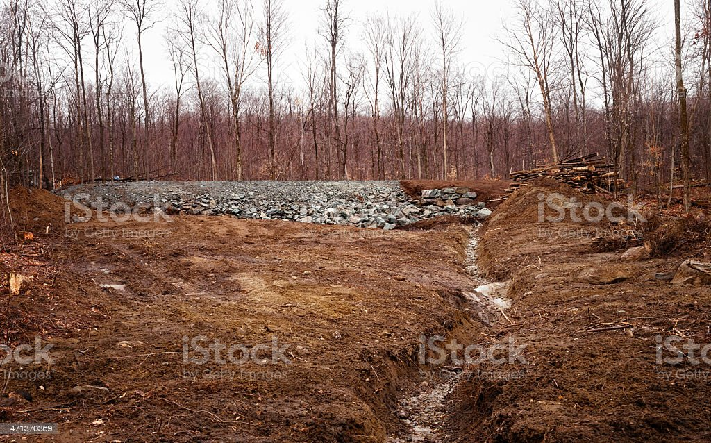 Rural Land ready for housing construction royalty-free stock photo