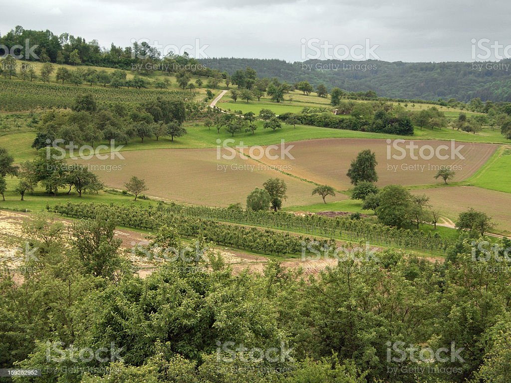 rural landscape in Hohenlohe royalty-free stock photo