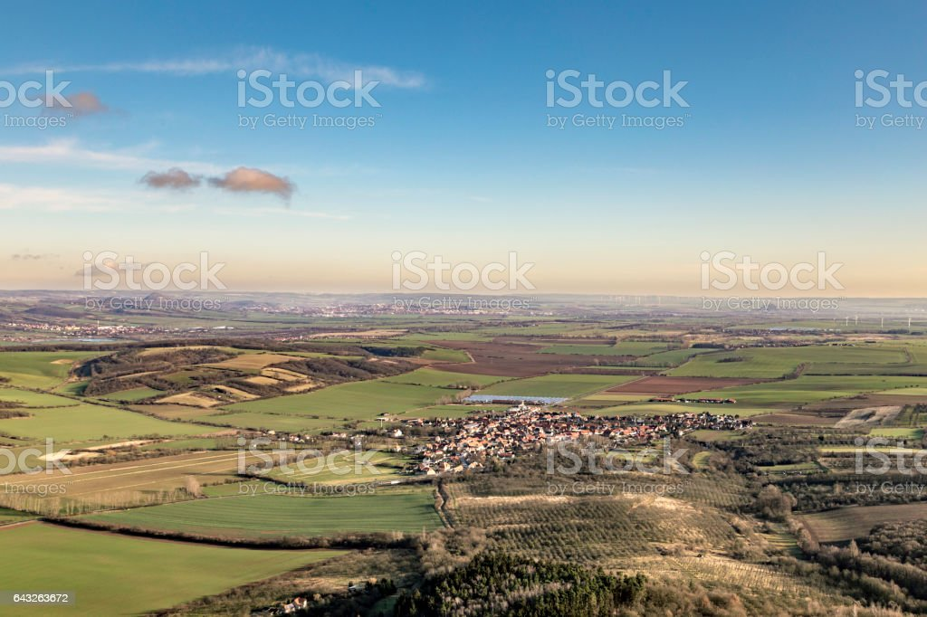rural landscape in thuringia stock photo