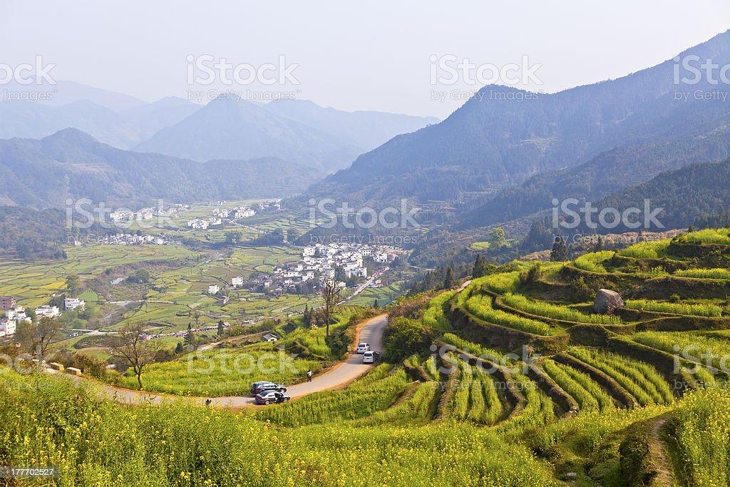 Rural landscape in Wuyuan, Jiangxi Province, China. royalty-free stock photo