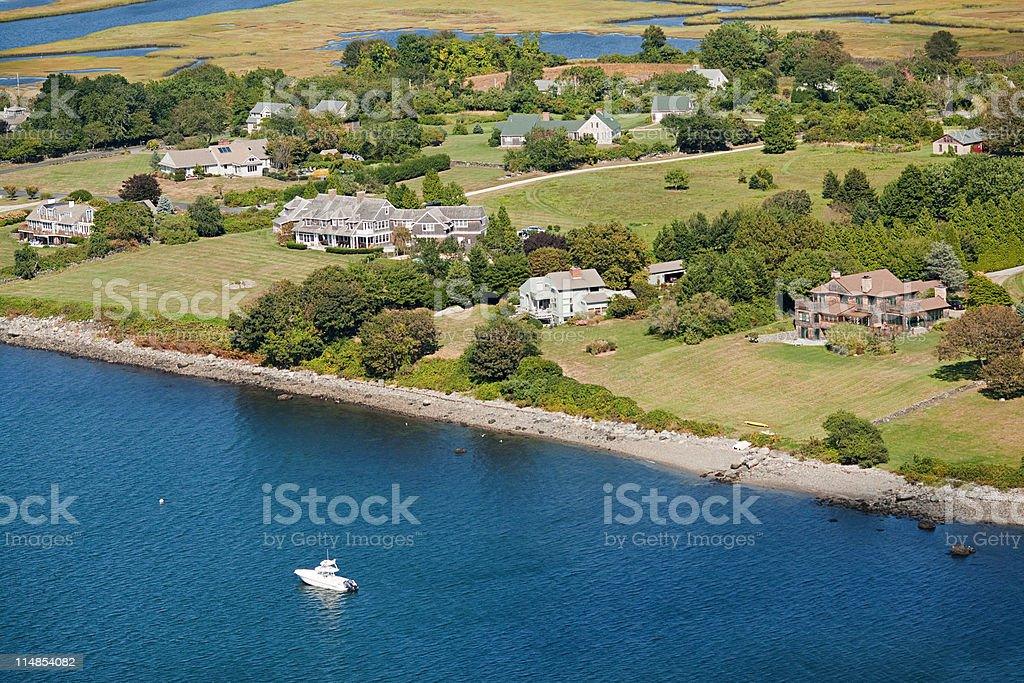 Rural landscape, Newport County, Rhode Island, USA stock photo