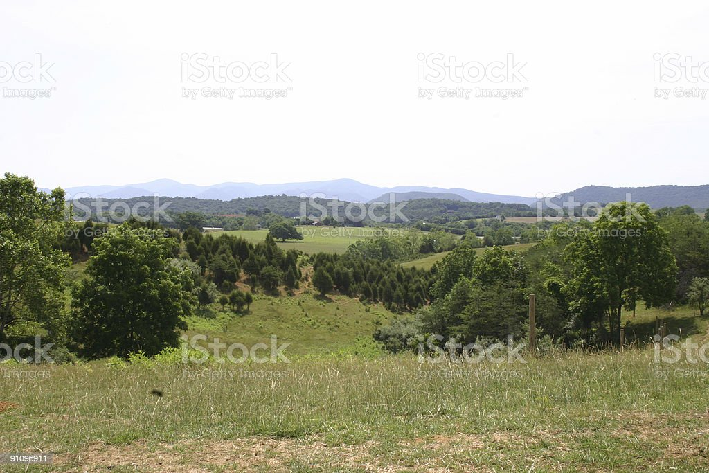 Rural Landscape of Central Virginia royalty-free stock photo