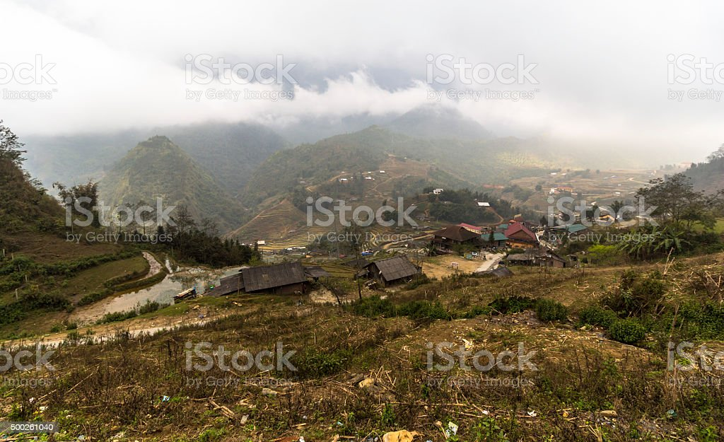 Rural landscape of Sa Pa, Vietnam stock photo