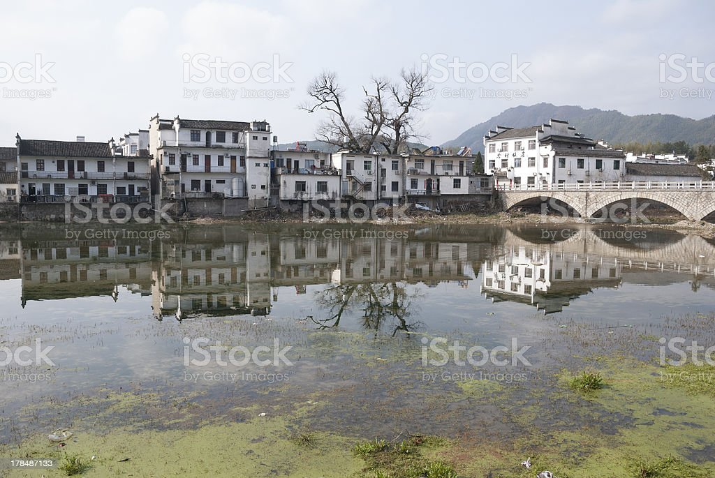 Rural landscape of southern Anhui royalty-free stock photo