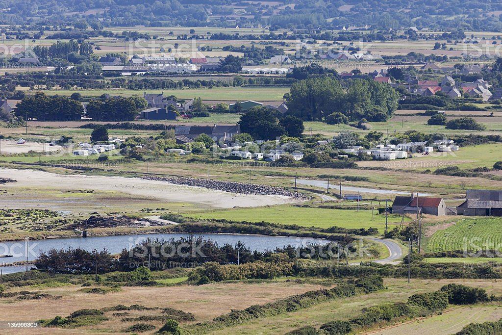 Rural Landscape on Peninsula Cotentin in France royalty-free stock photo