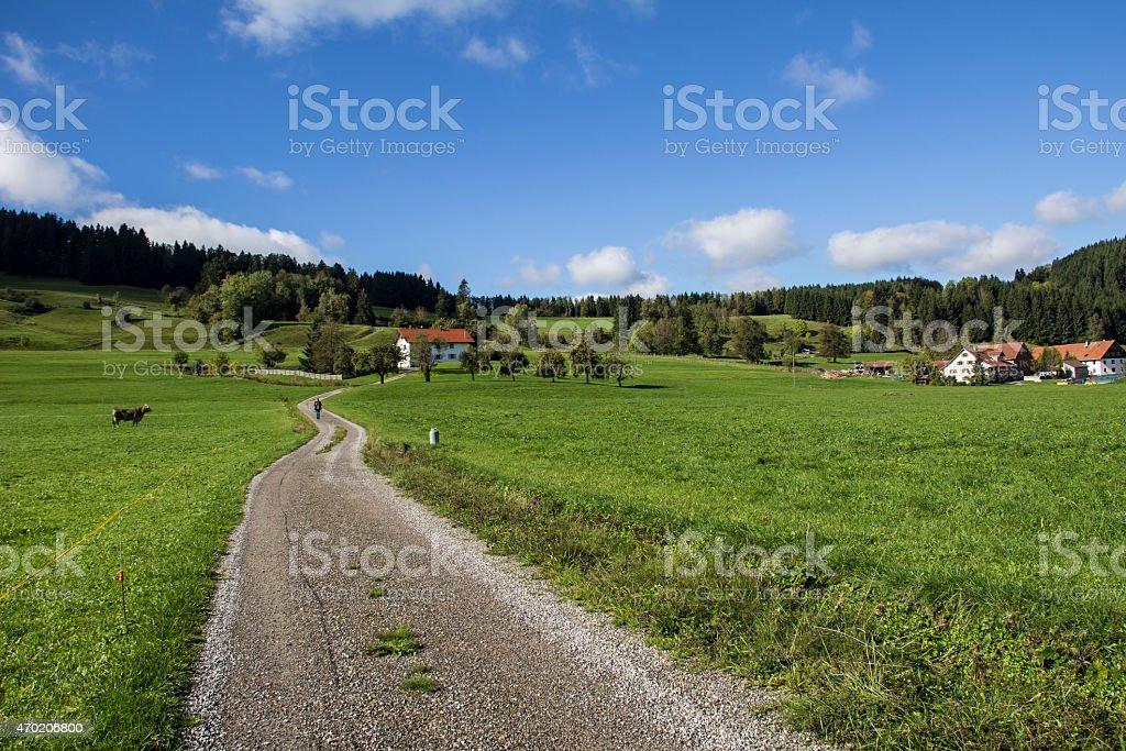 L?ndliche Landschaft stock photo