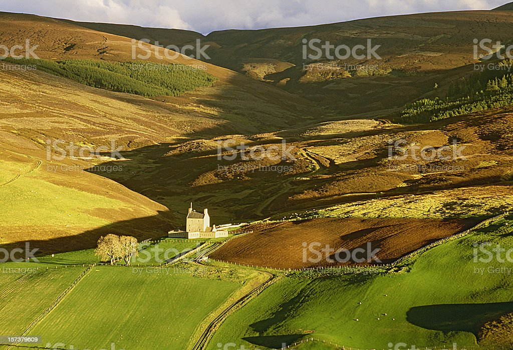 Rural landscape with small house royalty-free stock photo