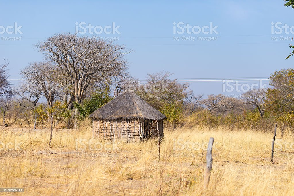 Rural life in Africa, bushman land, Namibia stock photo