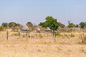 Rural life in Africa, bushman land, Namibia