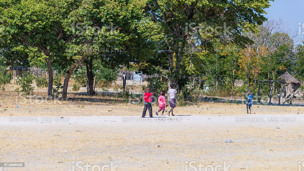 Rural life in the Caprivi Strip, Namibia, Southern Africa stock photo
