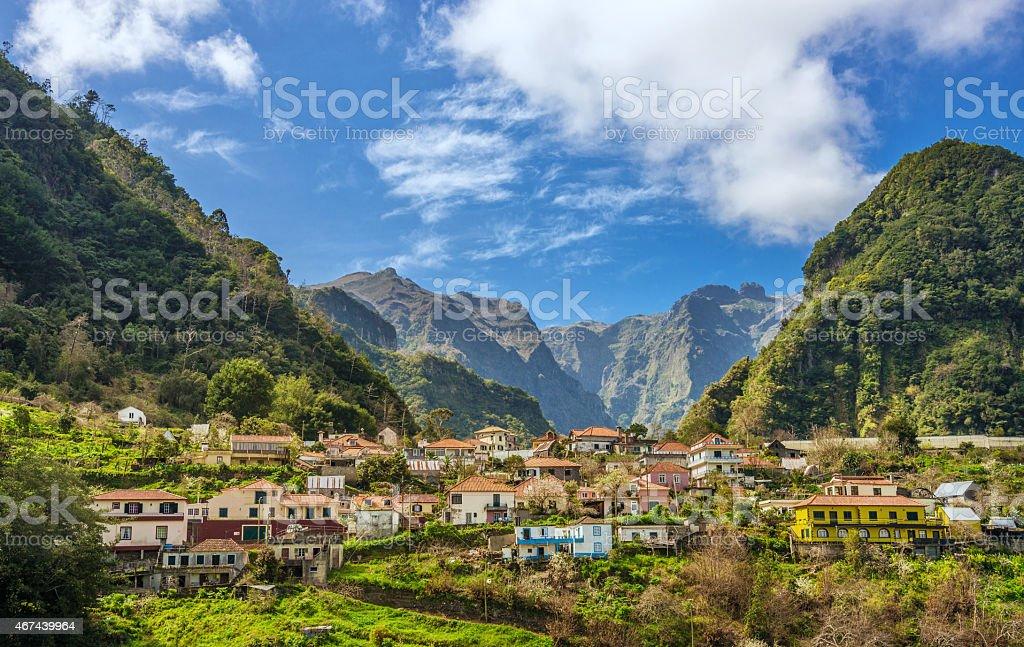 Rural Madeira - Parque Natural do Ribeiro Frio stock photo