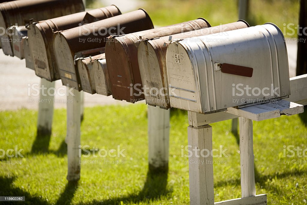 Rural Mailboxes royalty-free stock photo