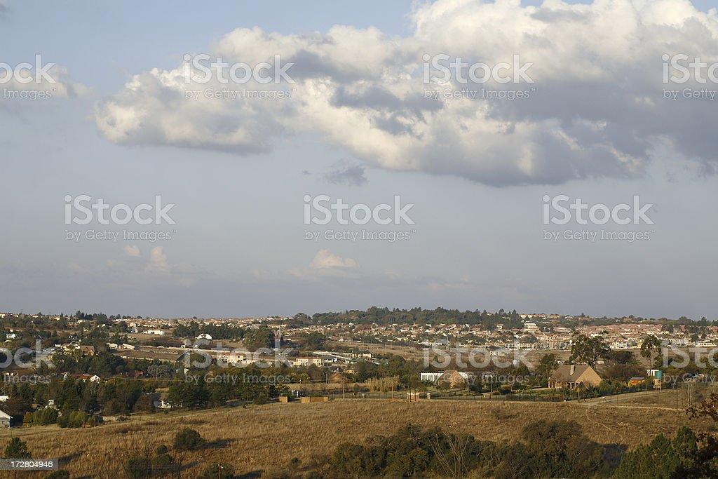Rural meets suburbia Johannesburg stock photo