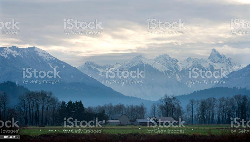Rural Mountain Scence stock photo