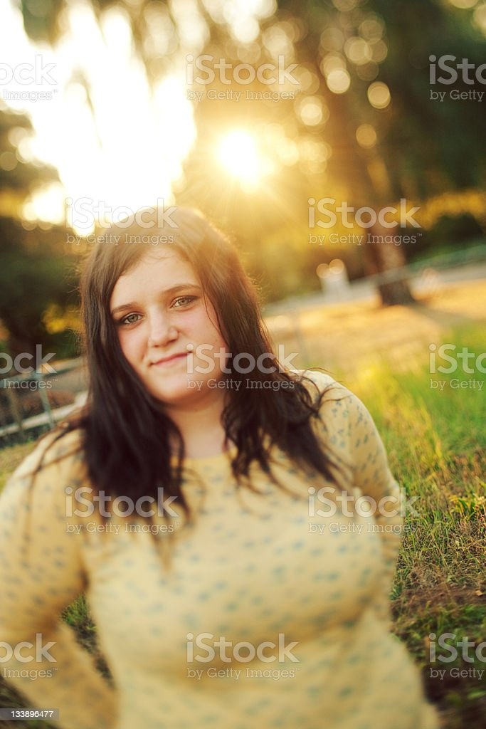 Rural Nature Tilt Shifted Teen stock photo