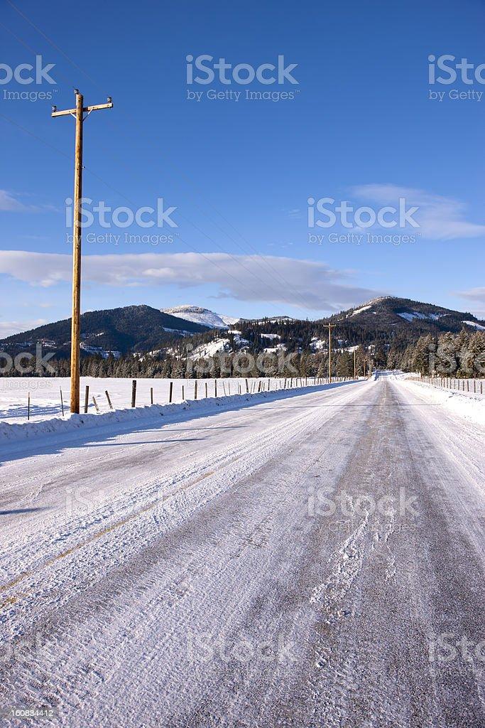 Rural north Idaho road. royalty-free stock photo