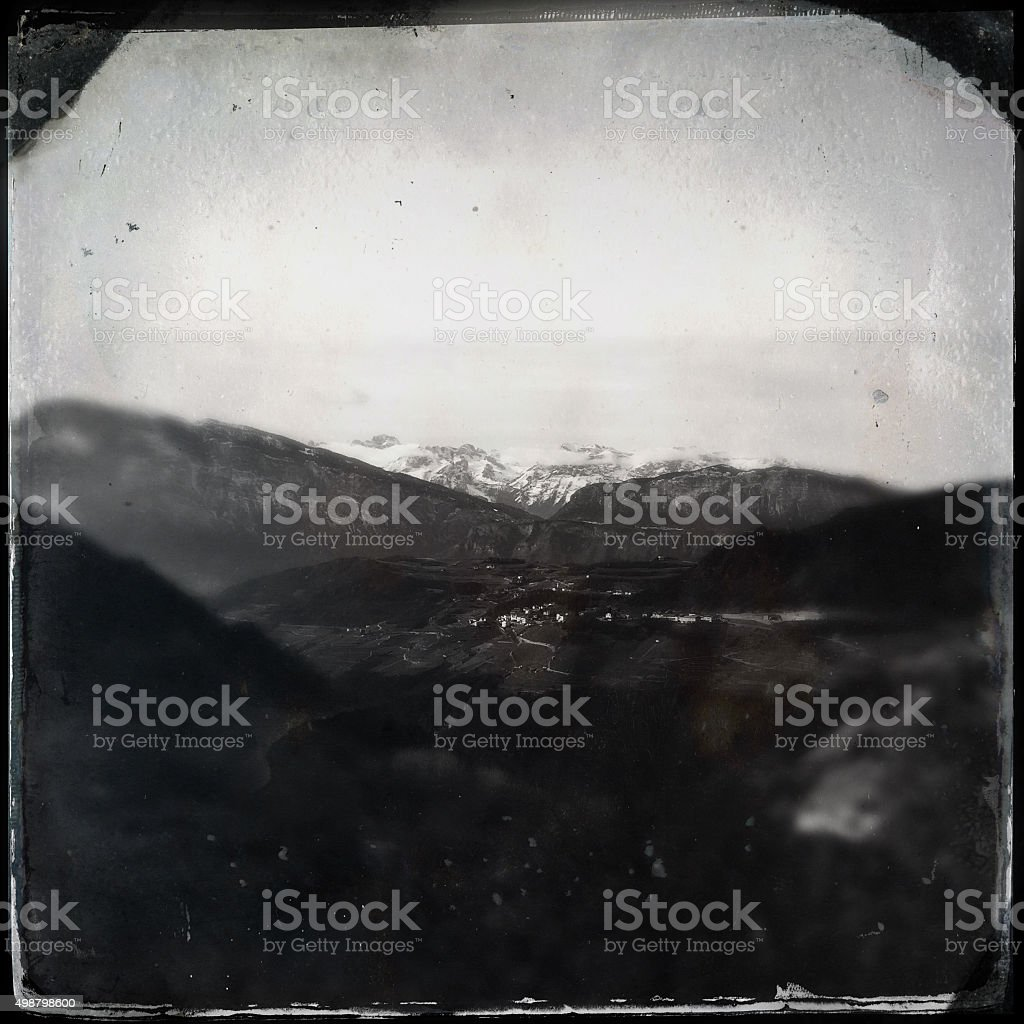 Rural Panorama Wet Plate stock photo