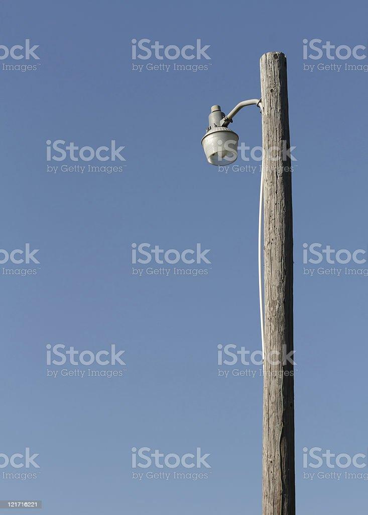 Rural Pole light stock photo