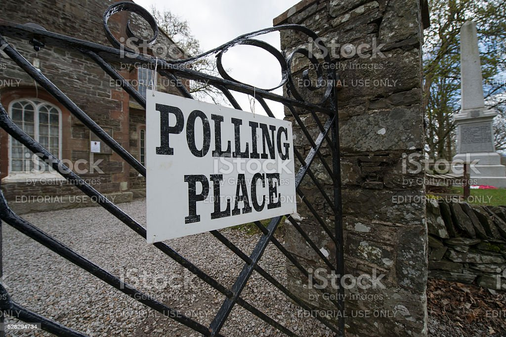 Rural polling place in Dumfries and Galloway Scotland stock photo