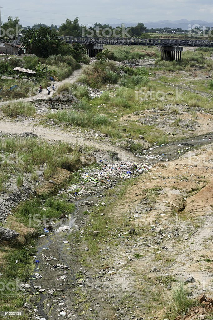 rural pollution royalty-free stock photo