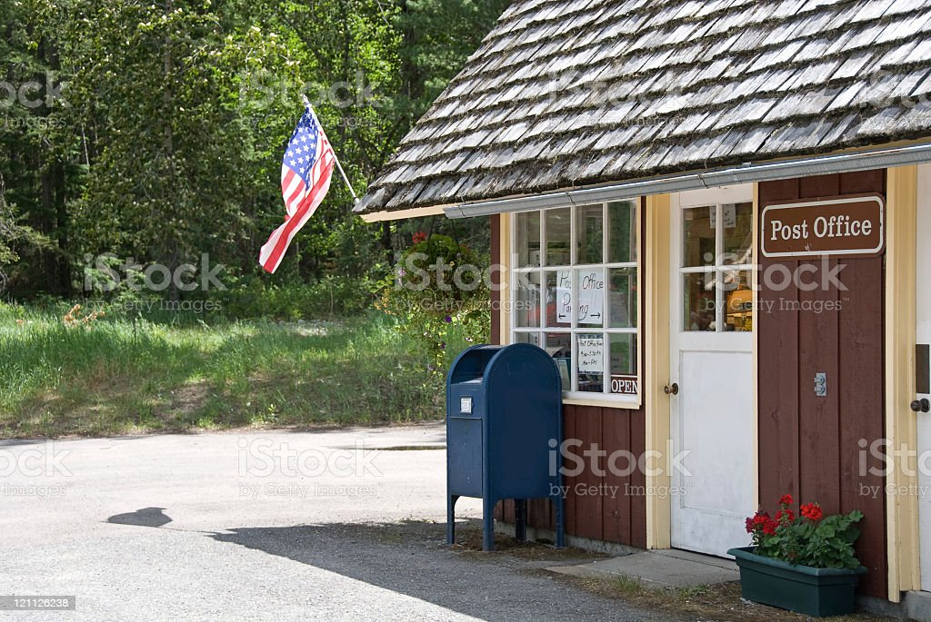 Rural Post Office stock photo