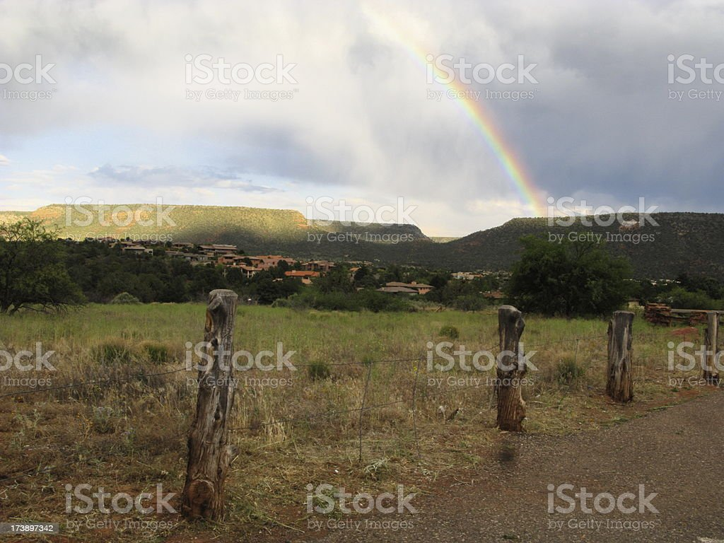 Rural Rainbow Storm royalty-free stock photo