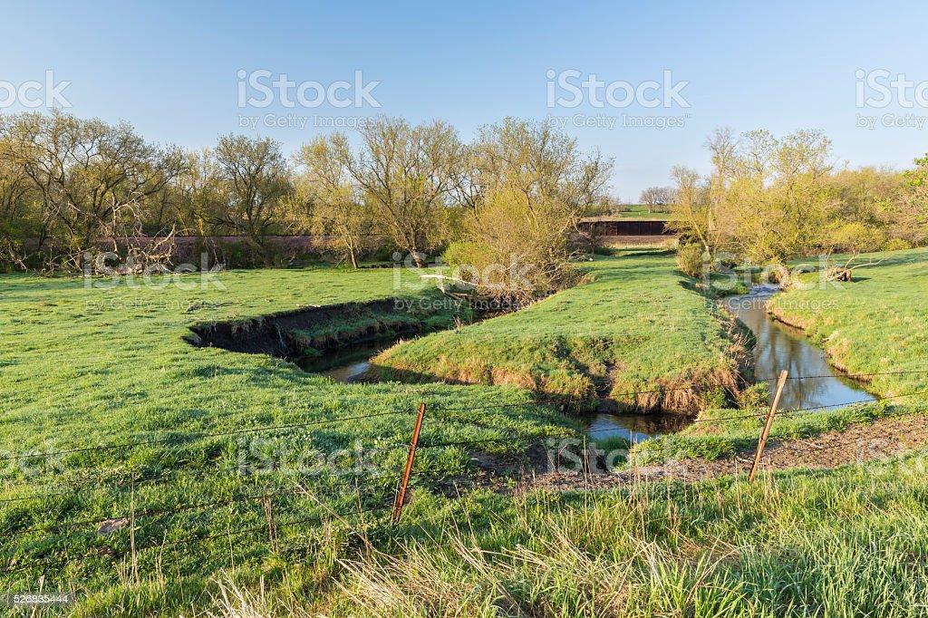 Rural River Scenic stock photo